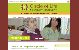 Circle of Life Caregiver Cooperative - Bob Paltrow Web Design Bellingham WA