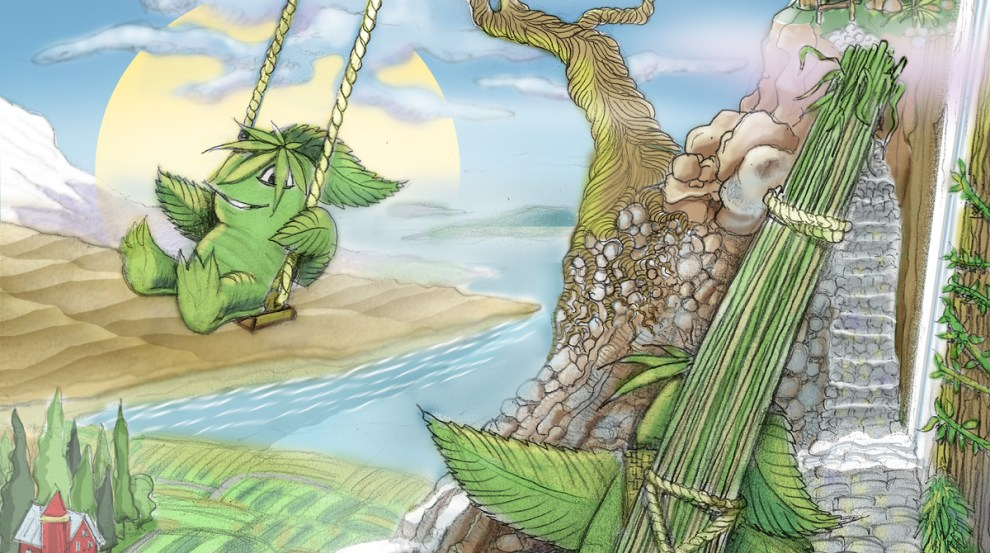 Origins of Hempsquatch. Illustration by Bob Paltrow Design, Bellingham WA