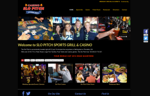 Slo Pitch Casino and Grill - Bob Paltrow Web Design Bellingham WA