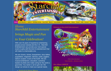 Starchild Entertainment - Bob Paltrow Web Design Bellingham WA