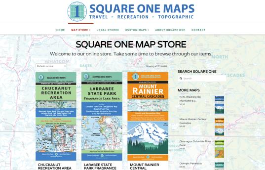 Map Store: Square One Maps - Bob Paltrow Web Design Bellingham WA