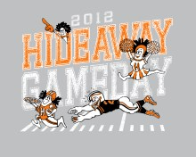 T-shirt Design by Bob Paltrow Design, Bellingham WA for Hideaway Pizza, Tulsa Oklahoma