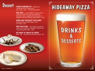 Hideaway Pizza Bar Menu - design by Bob Paltrow Design, Bellingham WA