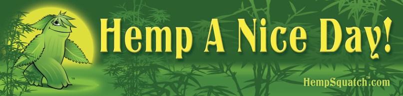 HempSquatch Bumper Sticker Design/Illustration by Bob Paltrow Design