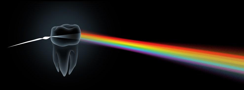Spectrum Dental Design Lab Logo by Bob Paltrow Design, Bellingham WA