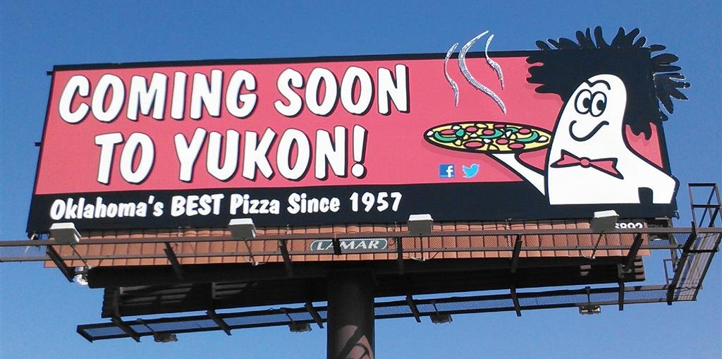 Billboard Design by Bob Paltrow Design - Hideaway Pizza, Tulsa OK
