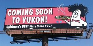 Billboard Design by Bob Paltrow Design - Hideaway Pizza, Tulsa OK