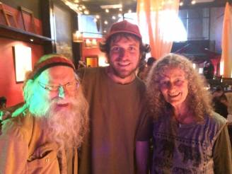 Featured performers: Dean and Dudley Evenson surrounding Devin Beu