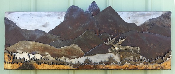 Bob Parker Fine Art | Mountain Moose 3D Metal Art - 7478