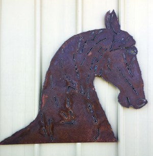 Bob Parker Fine Metal Art | Horse Head - 7513