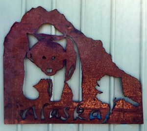 Bob Parker Fine Metal Art | Alaska - Grizzly Bear - 7543