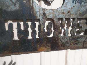 Bob Parker Fine Metal Art | New Customer Farm and Ranch Sign - Thowe