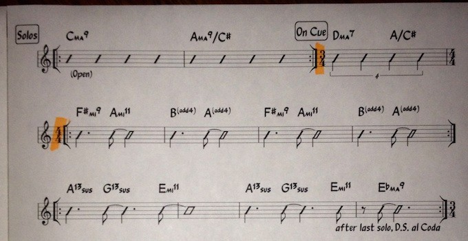 a separate solo section