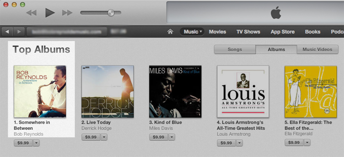 Somewhere In Between debuts at #1 on iTunes Jazz Charts