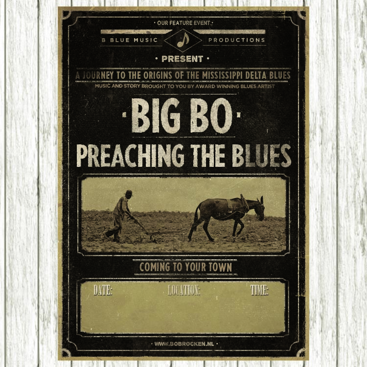 Poster: Big Bo - Preaching The Blues