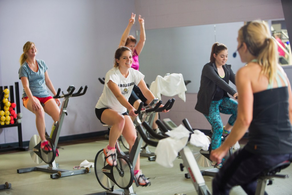Cycle Class people on bikes