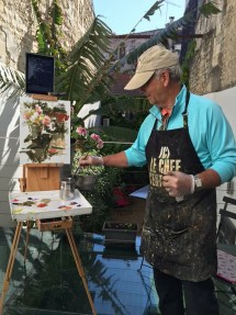 bob painting in France 2015
