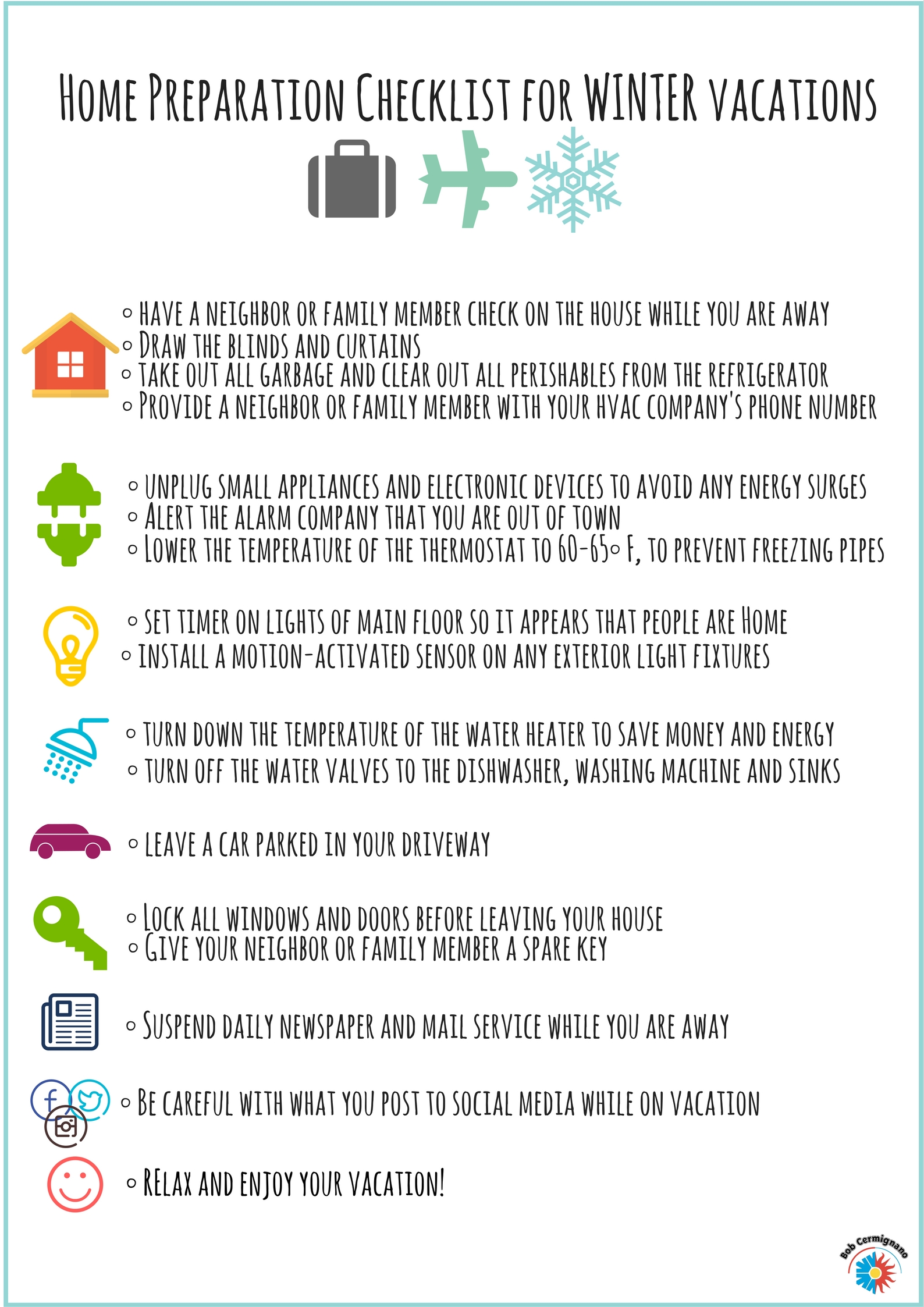 How To Prepare Your Home Before Your Winter Vacation Bob