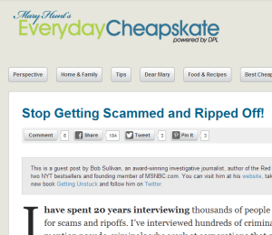 Have a look at Everyday Cheapskate