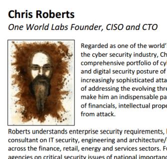 Chris Roberts' bio