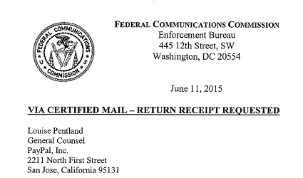 FCC paypal