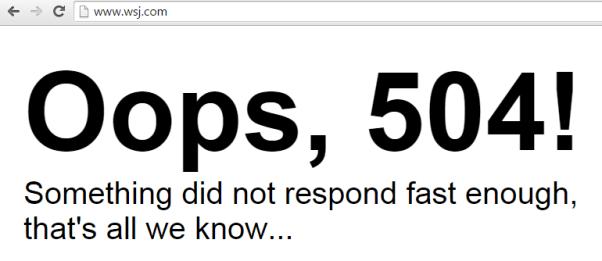 The WSJ.com error message
