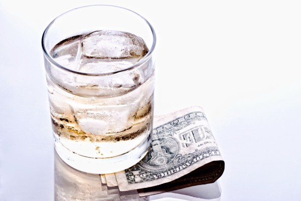 whiskey and money