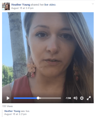 Young posts videos to help keep the group on track
