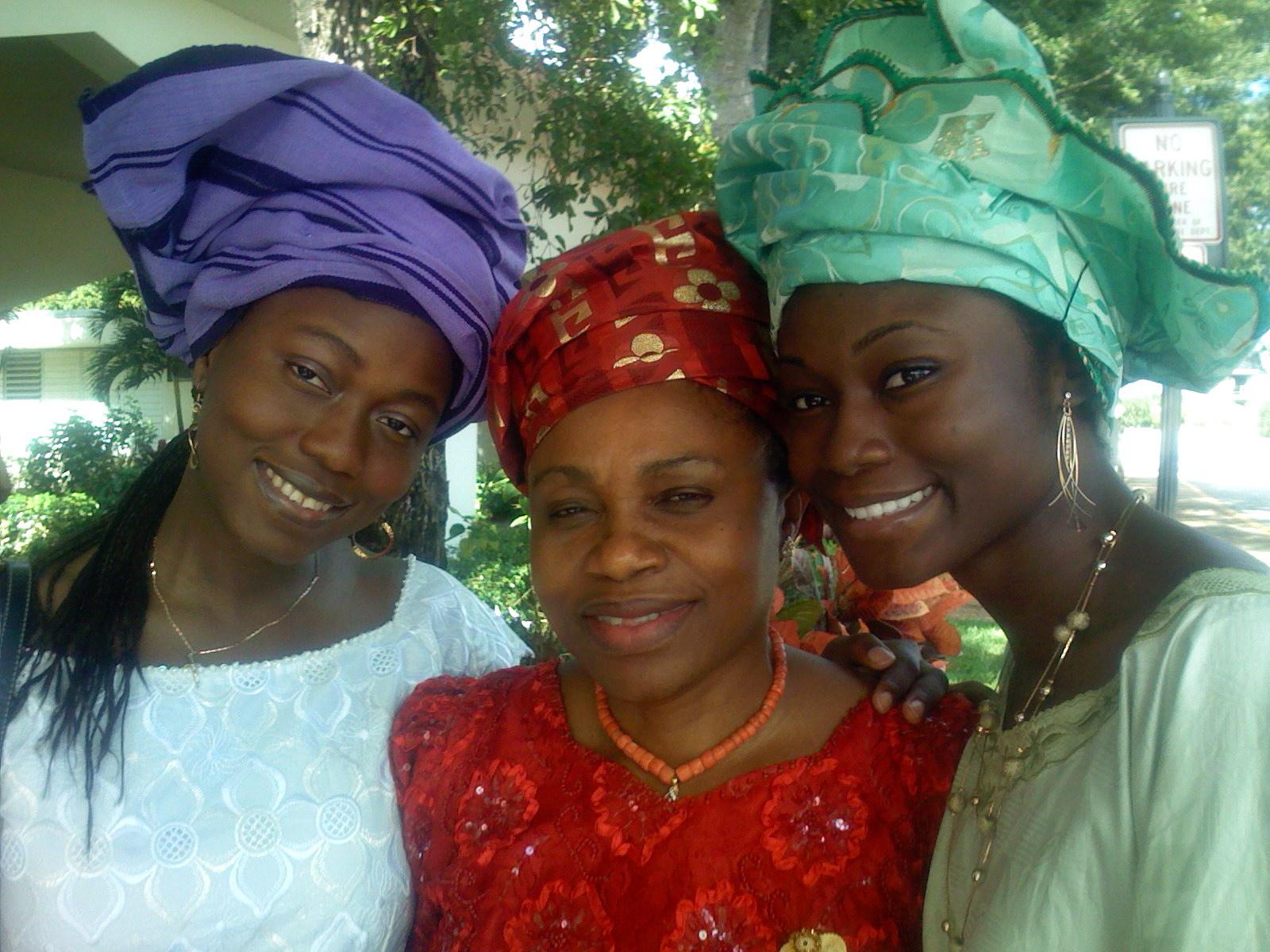 ladies from Ghana in St. Bartholomew's Parish, Miramar, FL, Christmas 2007.
