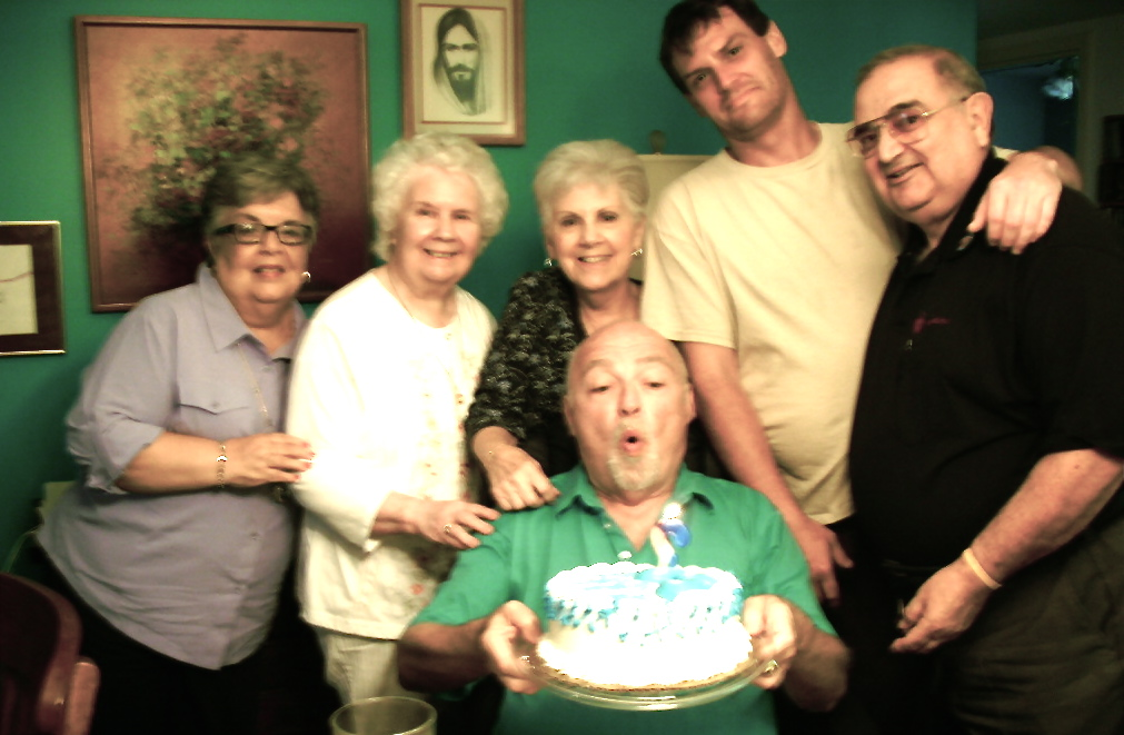 """happy b'day to me with augie and, er, """"old"""" friends in my home"""