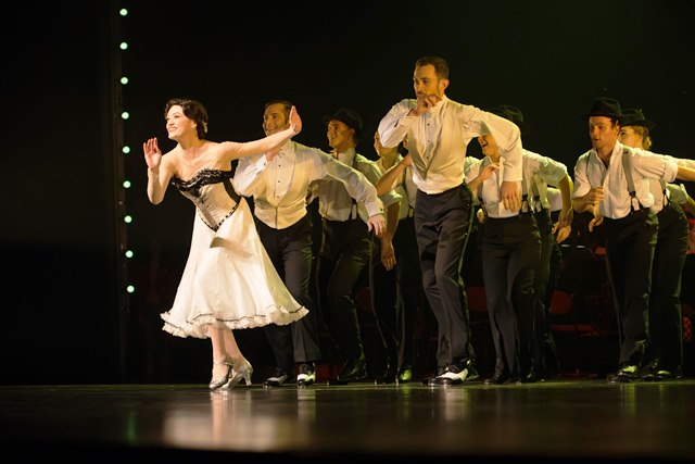 Racheal Walsh and tap dancers performing during Queensland Ballet's Strictly Gershwin