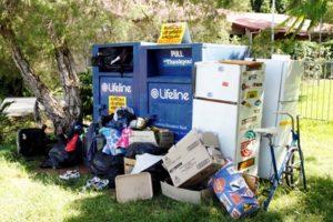 Spectacles-Dumped rubbish-Lifeline. photo: Chris McCormack