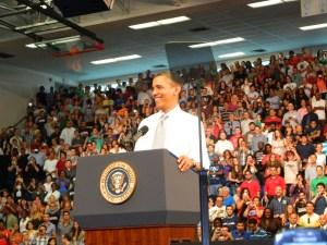 President Obama at FAU on April 10 2012