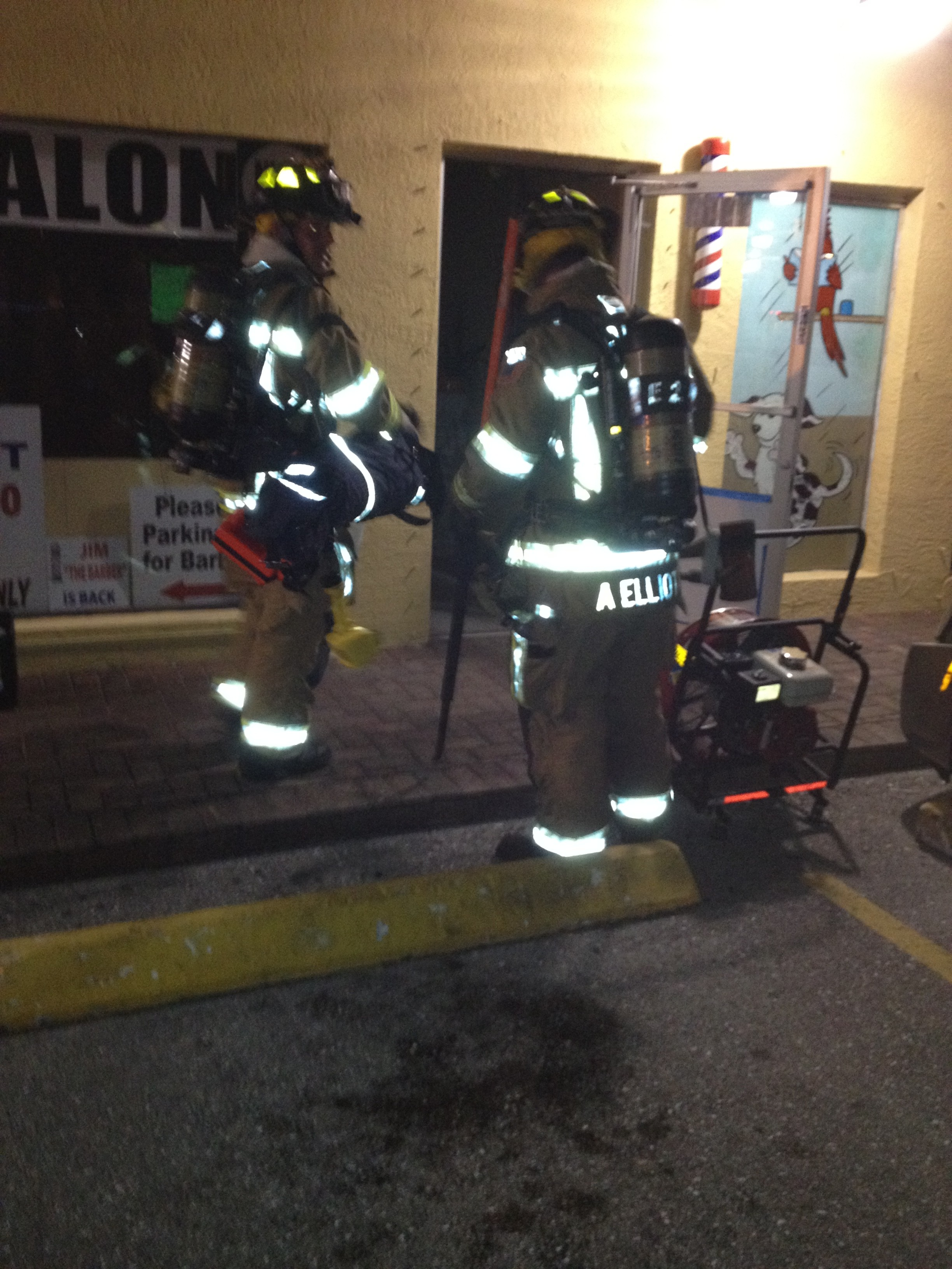 fire at boca barber shop