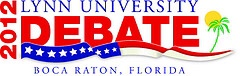 students stand in at Lynn University presidential debate in Boca Raton.