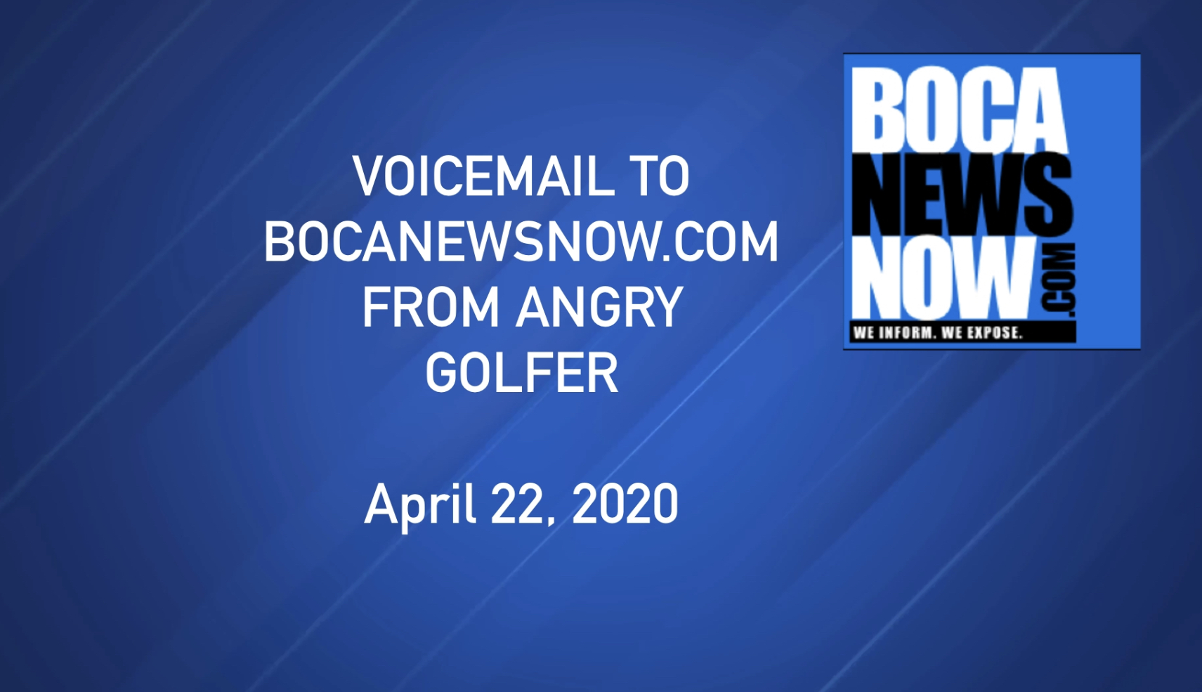 Boca news now voicemail