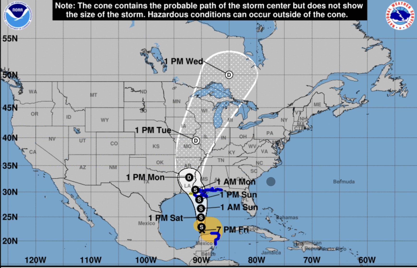 Hurricane Center Tropical Storm Warning As Cristobal Heads To Us Mainland Bocanewsnow Com