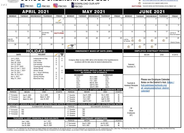 PALM BEACH SCHOOLS: NEW CALENDAR EXTENDS YEAR TO JUNE 18TH