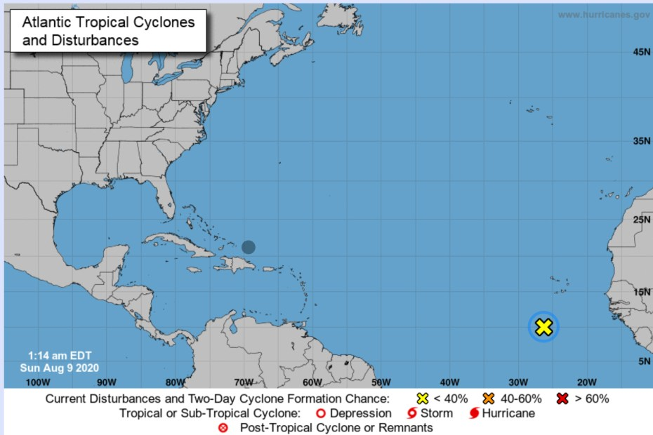 tropical system august 9 2020