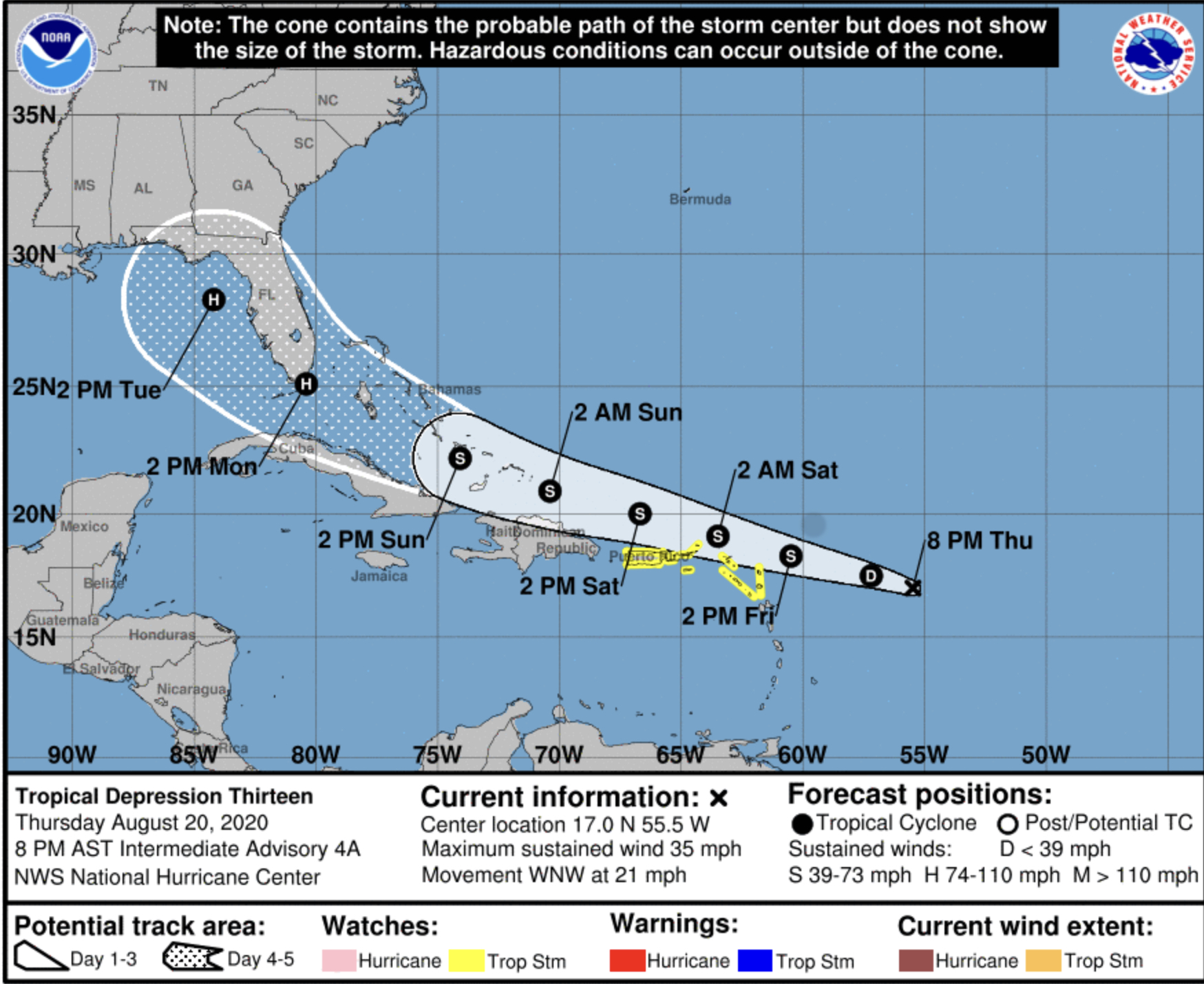 hurricane center laura august 20 20202