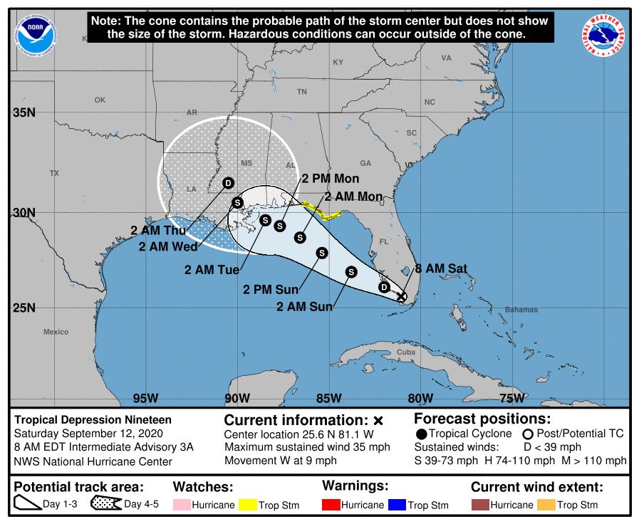 tropical depression 19