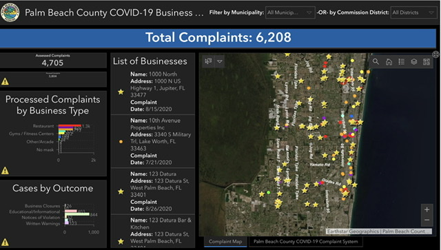 covid-19 complain map