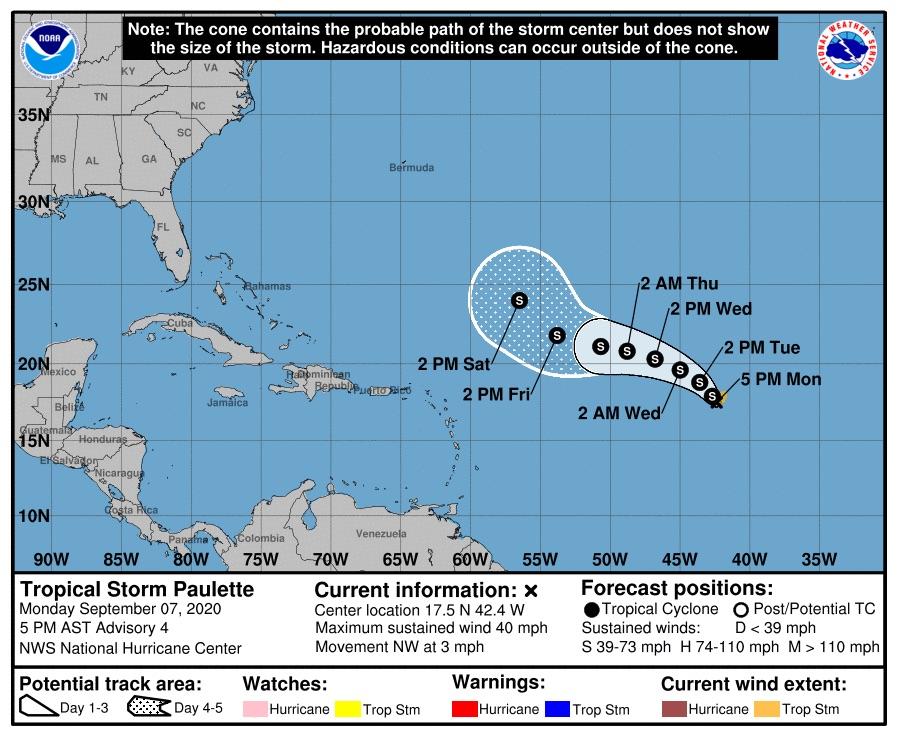 tropical storm paulette