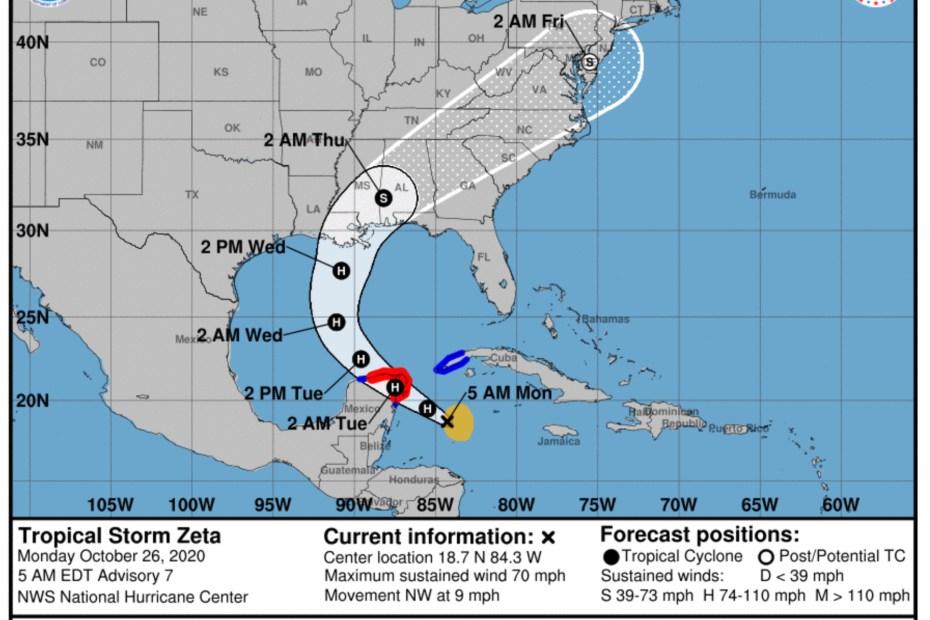 zeta tropical storm hurricane