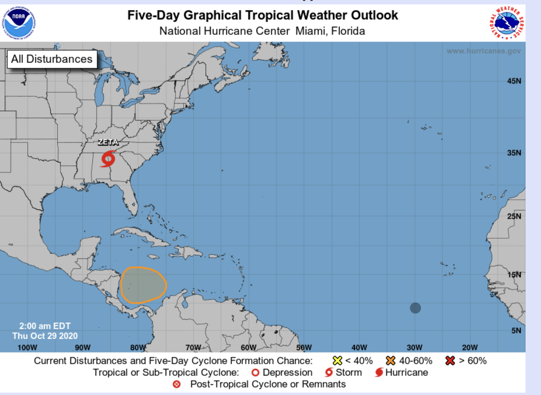 hurricane center october 29 2020