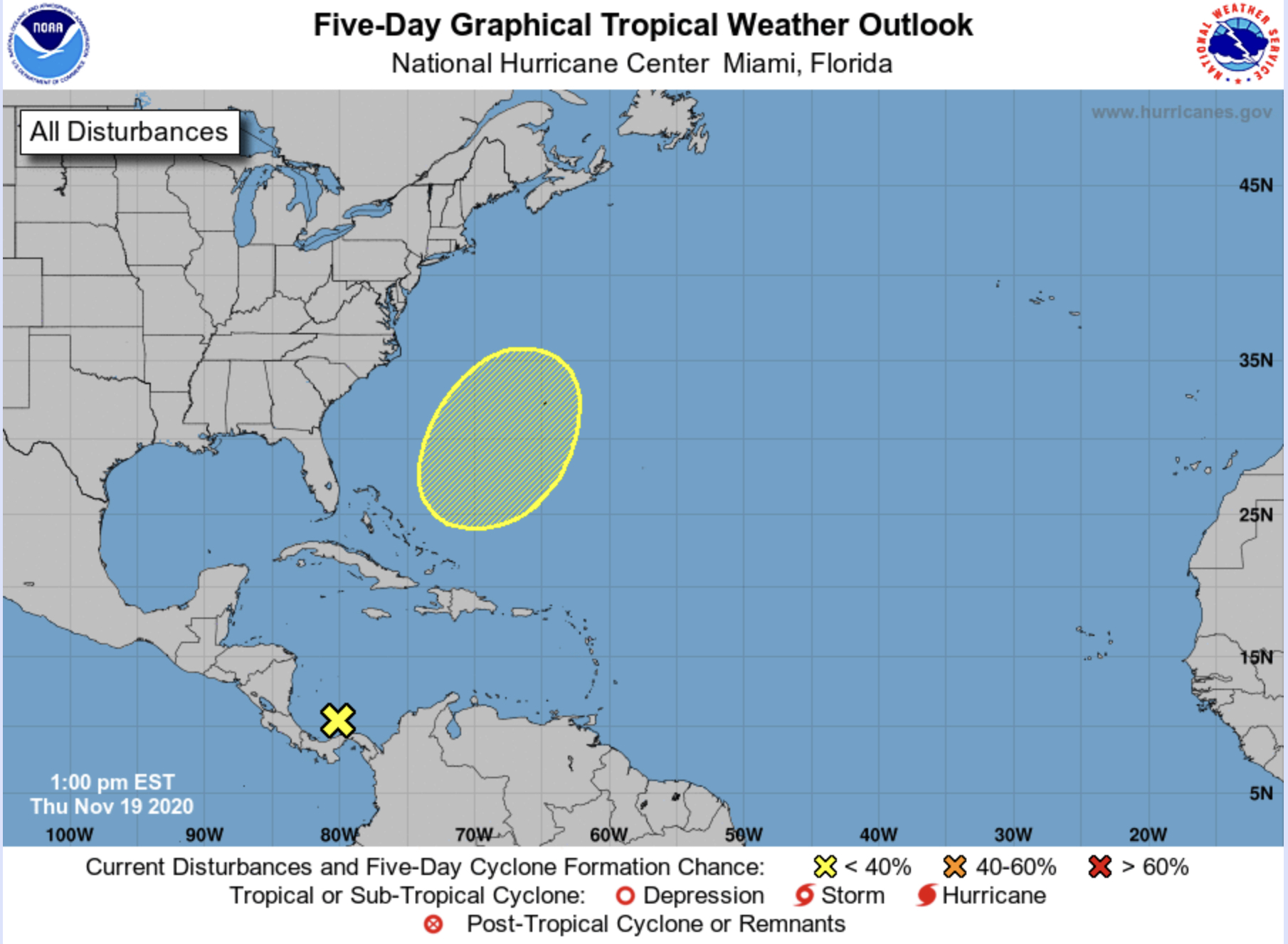 hurricane center november 19