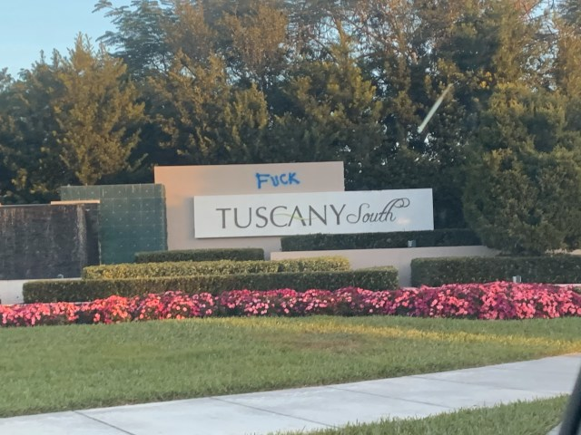 Tuscany south vandalism jan 21