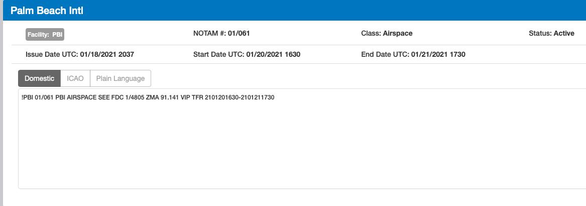 FAA Notam