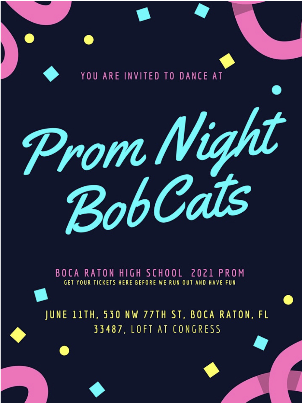 Boca high prom 2021