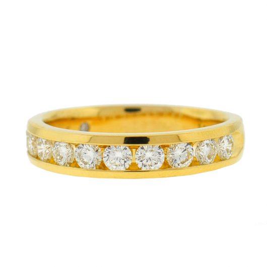 The Leo Diamond 18k Yellow Gold Diamond Wedding Band Approx 106 Tcw Boca Pawn Boca Raton Pawn